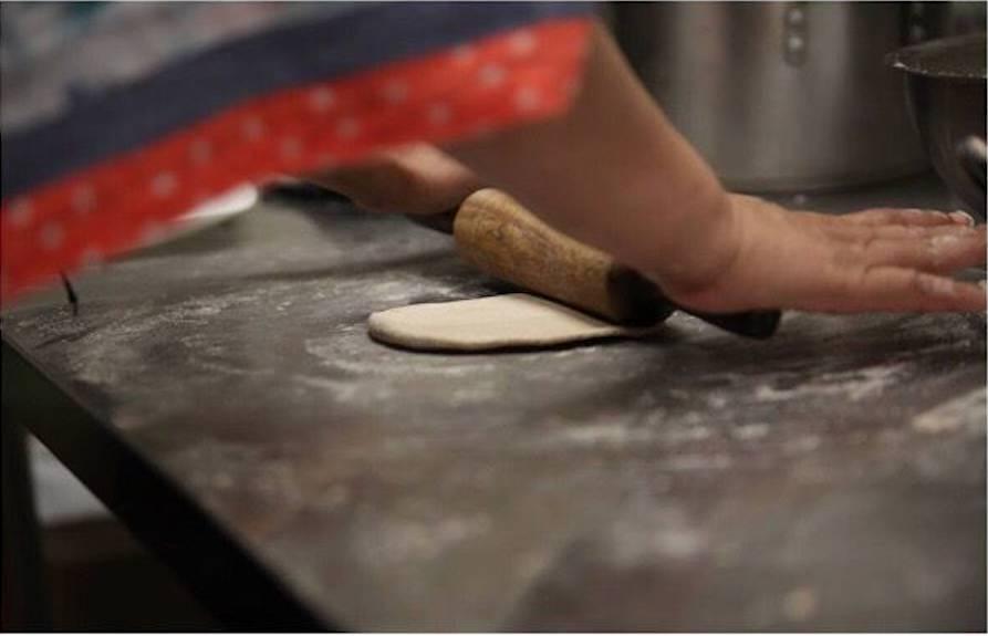 Préparation d'un naan