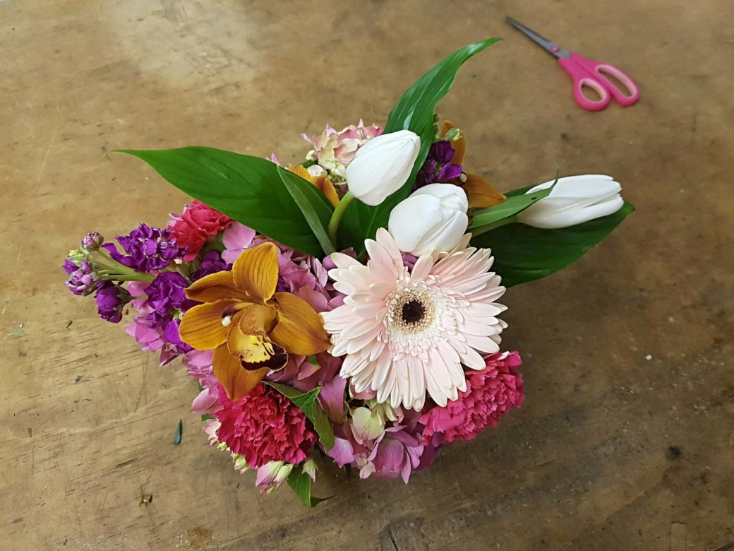 House of Flowers, Bakersfield California, finalized bouquet