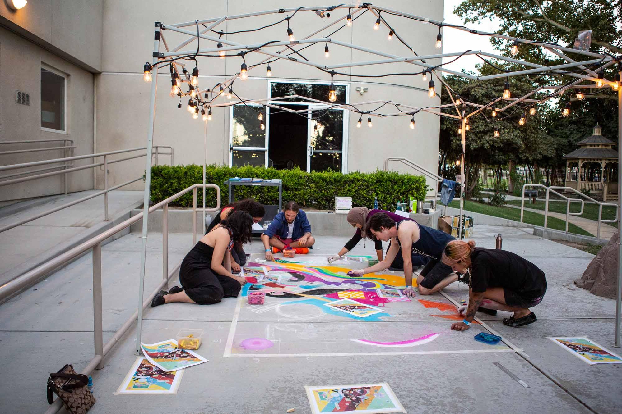 Kern Creatives street art event at BMoA