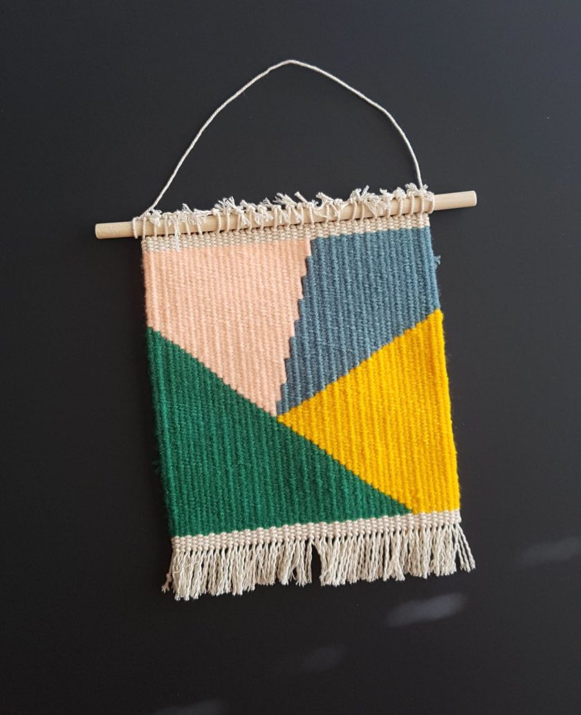 Handmade wall decor - tapestry weaving